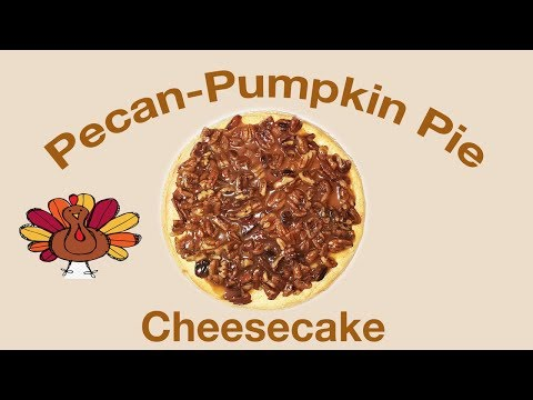Pecan-Pumpkin Pie Cheesecake with Mama Mable's Boy