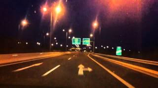 Трасса Афины-Салоники, неподалеку от г.Лариса(Ночная скоростная трасса в Греции., 2010-12-24T18:15:39.000Z)