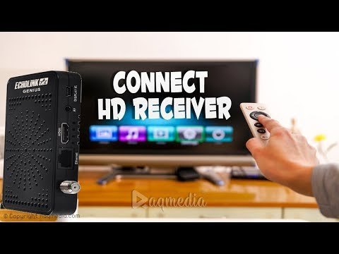 How to Connect a Satellite receiver to a TV