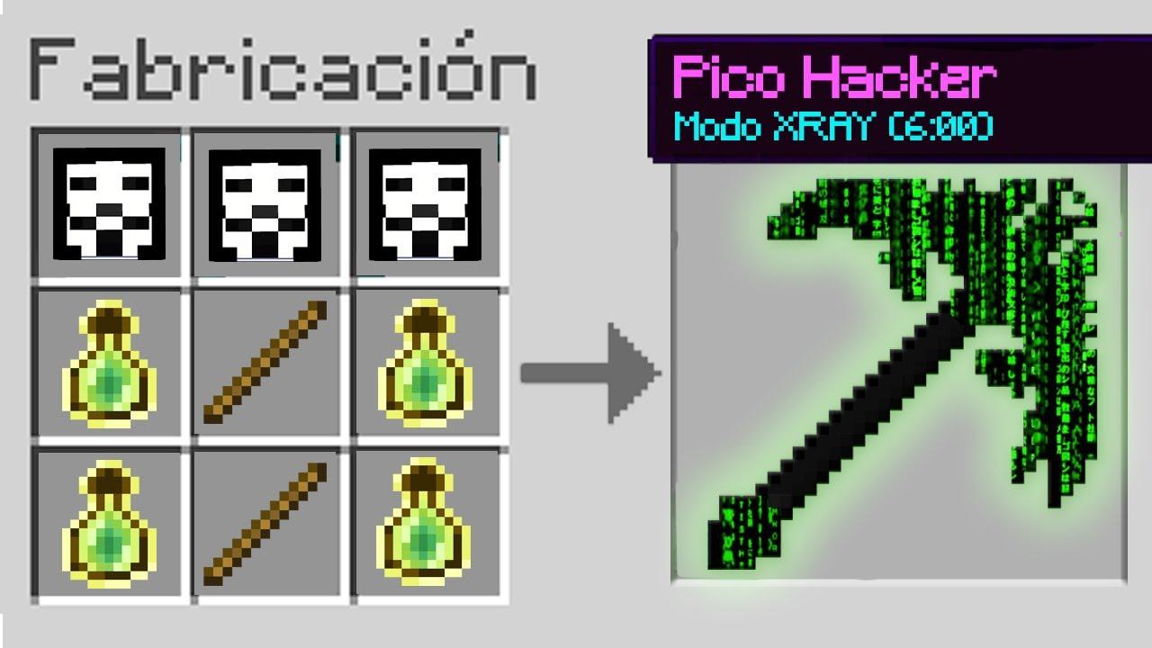 ¿Cómo CRAFTEAR EL PICO HACKER en Minecraft? 🚫⛏️ CONSEGUIMOS LOS PICOS MÁS PODEROSOS 😱