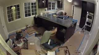 Kitchen Remodeling - Day 14 Of 17 - Upper Cabinets, Electric, Lighting, Granite Counter Install