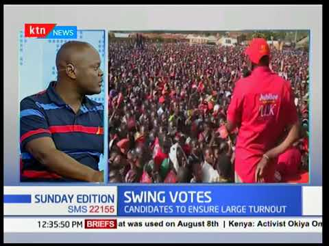 Raila Odinga and Uhuru Kenyatta storm in swing vote regions to stamp domination