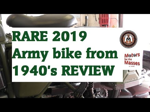 RARE 2019 Army bike from the 1940's REVIEW