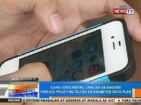 NTG: Ilang subscribers, umalma sa bagong fair use policy ng telcos sa unlimited data plan