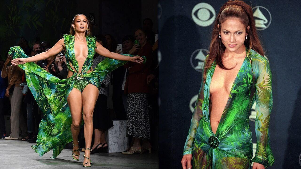 Watch Jennifer Lopez SHUT DOWN the Versace Fashion Show in Her Iconic GRAMMY Look!
