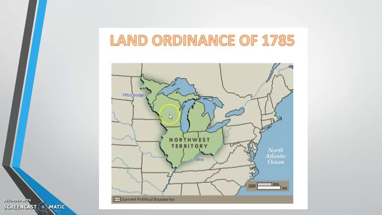 What did the northwest territory under the articles of confederation do