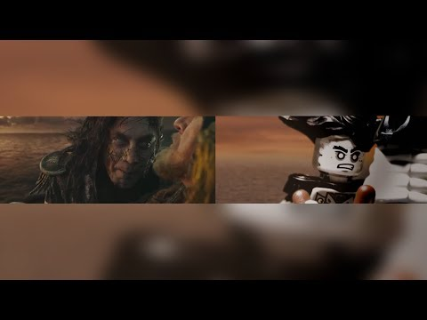 Pirates of the Caribbean: Dead Men Tell No Tales Trailer IN LEGO (Side by Side)