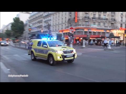 Ambulance Responding In PARIS   (SAMU 91 + Pompier 77)