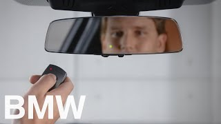 How to pair the BMW interior mirror with integral garage door opener – BMW How-To