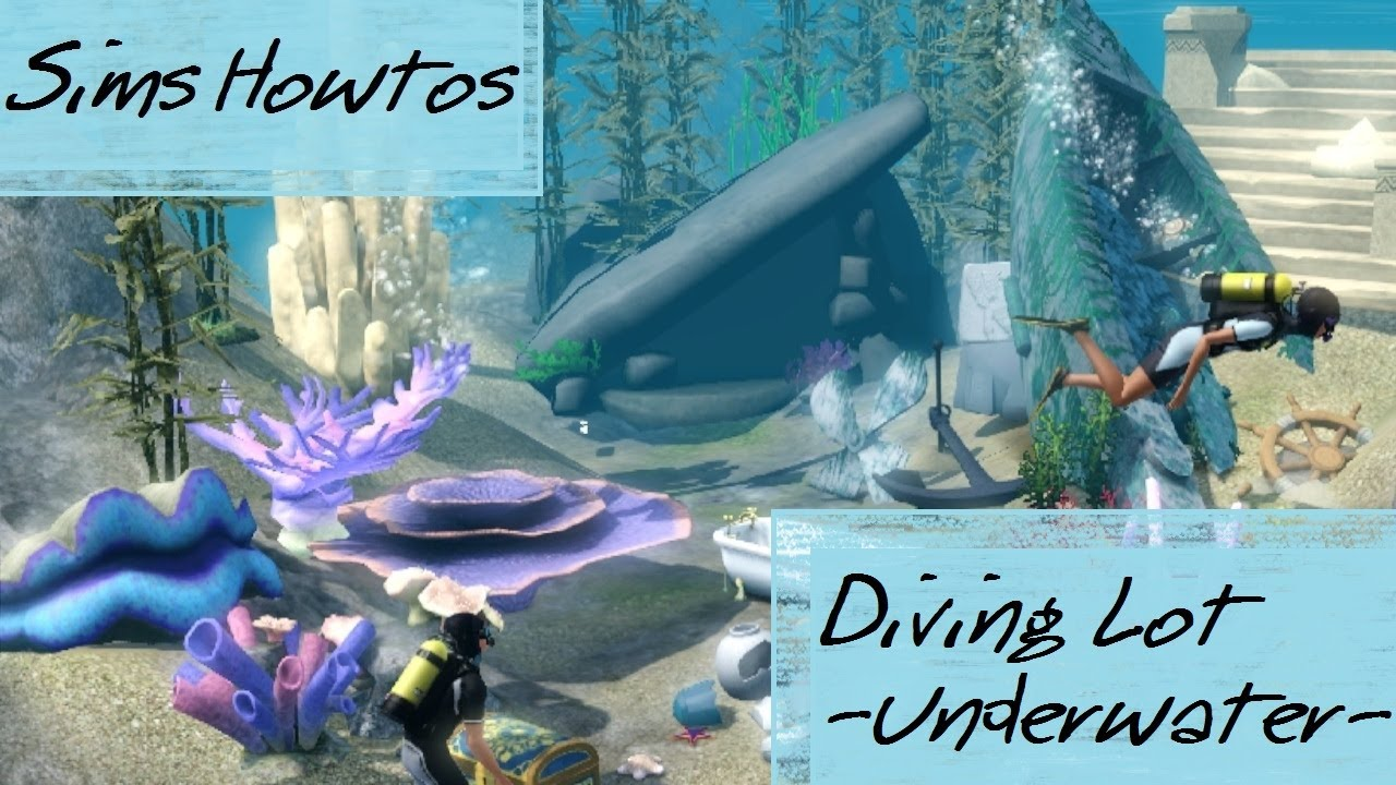The Sims 3 - Island Paradise - UNDERWATER LOT - Diving ...