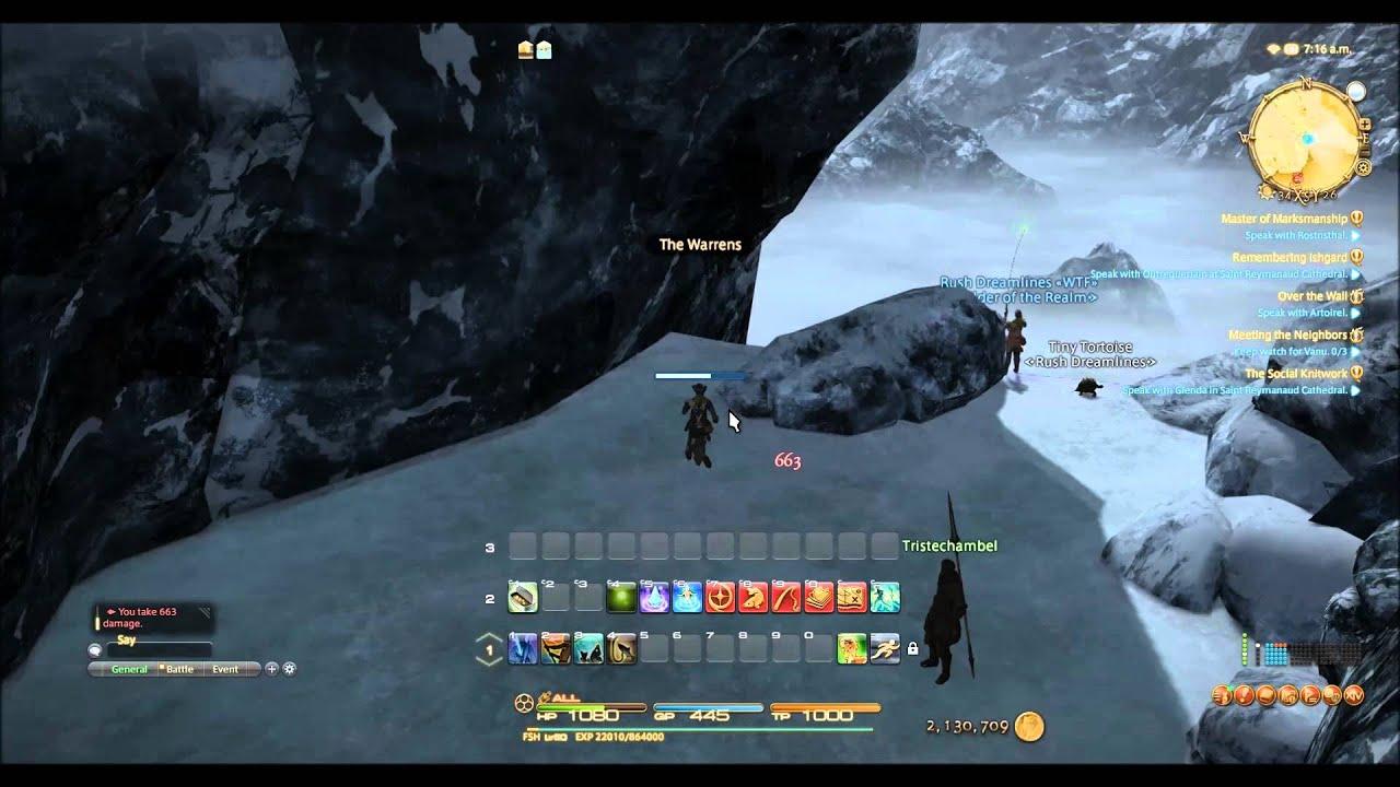 Ffxiv Heavensward Fishing Greytail Falls Youtube