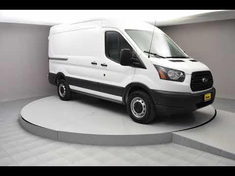 2018 Oxford White Ford Transit-250 3D Medium Roof Cargo Van #JKA72086