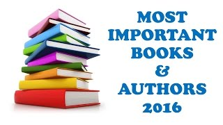 Most Important Books and Authors, 2016!! - Study Capsule