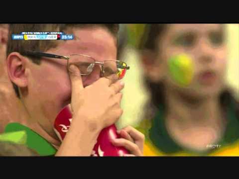 Brazil Deutschland 1 7 Ode An Die Freude Weinen Junge World Cup 2014