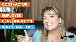 Contractor vs Employee - Why classification of employment matters