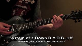 system of a down byob main riff guitar lesson
