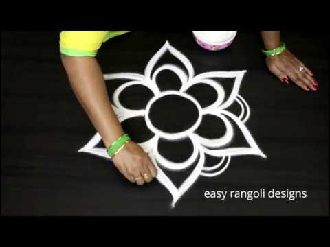 Beautiful free hand special  kolam arts  || easy rangoli designs  || new muggulu patterns