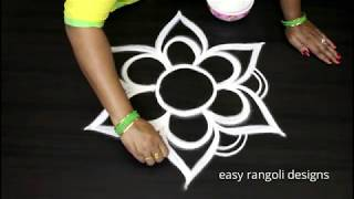 Beautiful free hand special  kolam arts  || easy rangoli designs  || new muggulu patterns