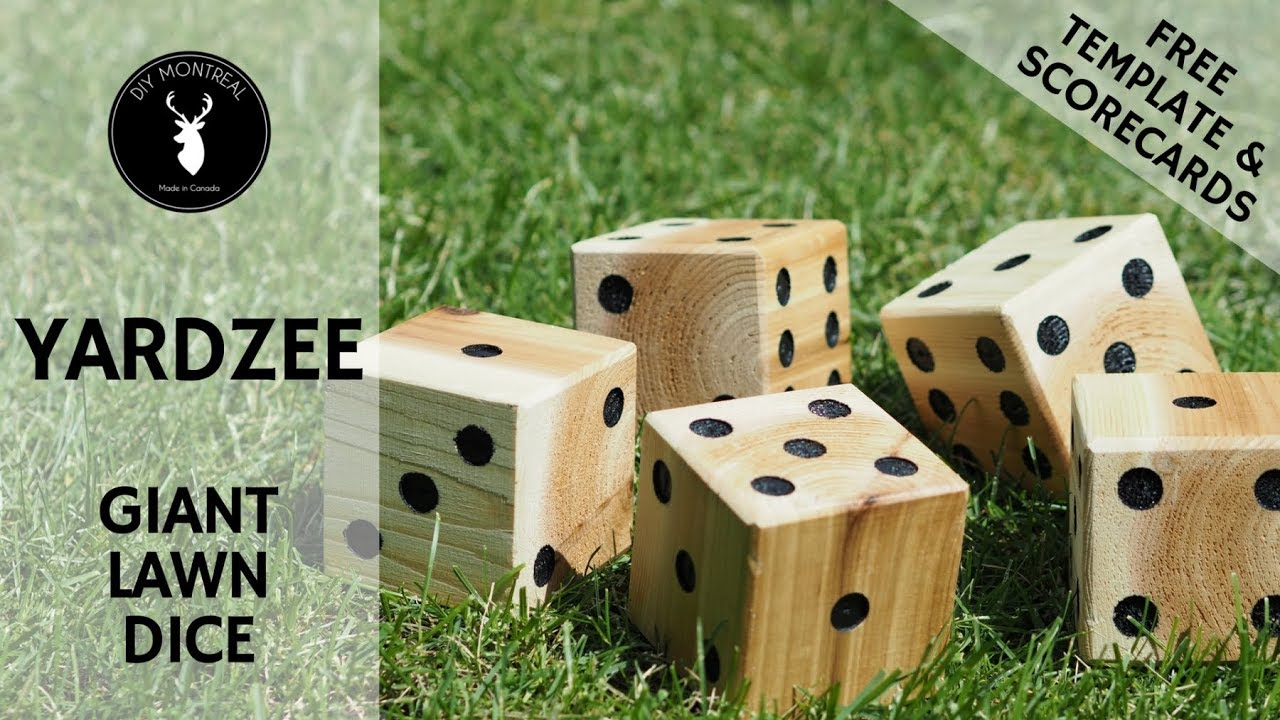 photo regarding Yardzee Printable known as Do it yourself Yardzee Backyard Cube No cost Template and Scorecards