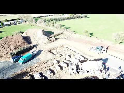Kilmacthomas New Build - Aerial View of Foundations
