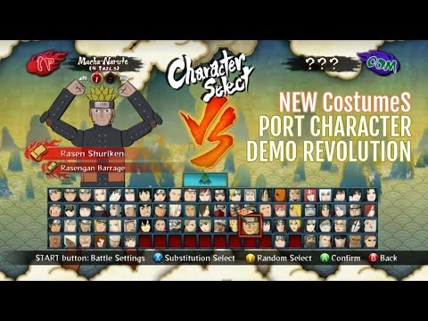 Naruto STORM III™+D40 New Costumes Pack MOD Characters Included DEMO Revolution!: Fala povo bonito, ericmtd aqui trazendo Free Battle Roster MOD de Naruto ninja storm III (PC).  Credit MOD:  https://www.youtube.com/watch?v=-05OQDb-8wU&list=UU2YZj6hRTdQSMCzE2qDGDbg  Beta 0.1 Released - August 9th 2014     Initial Release  Beta 0.2 - (Unreleased)     New way of loading files (Through DLC.cpk)     New Character: Anko (Credit to EliteAce and TheDarkenedOne/Kuroha Saenoki)     New Character: Anbu Itachi (Credit to TheDarkenedOne/Kuroha Saenoki)     New Costume: Deidara (Cloakless)     New Costume: Masked Man (Serious Tobi, broken mask)     New Costume: Mifune (Armor)     New Costume: Kabuto (Storm 1)     Fixed the Chakra and Support 2 buttons in the modded save  Beta 0.2.1 -  Bug Fix (Unreleased)     Added Download for a patch to fix KCM Minato and Sage Hashirama  Beta 0.2.5 - September 1st 2014     Fixed Bug in Latest Naruto, his awakening model wouldn't load and crashed     Fixed Bug in Tenten, she didn't have any taijutsu     Beta 0.2.5 contains everything that Beta 0.2 and 0.2.1 has  BUG LIST: - Revolution Naruto has no ougi. I disabled it since P2 always crashed.  - Revolution Kakashi cannot use any jutsu besides his basic Lightning Blade.  - Revolution Kakashi is replacing H&S Sasuke so after double jumping, he will lose his lock on.  - Revolution Kakashis down combo cannot connect right, the opponent can rebound out of it.  - Revolution Kakashis neutral combo can be used to glitch through walls/barriers.  - Revolution Kakashi cannot use a ougi.  - Revolution Kakashi sometimes gets a
