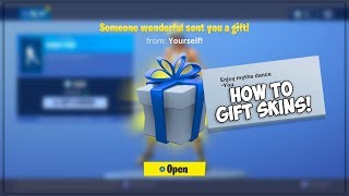 FINALLY... GIFTING SKINS System in Fortnite! (How To Gift Skins)