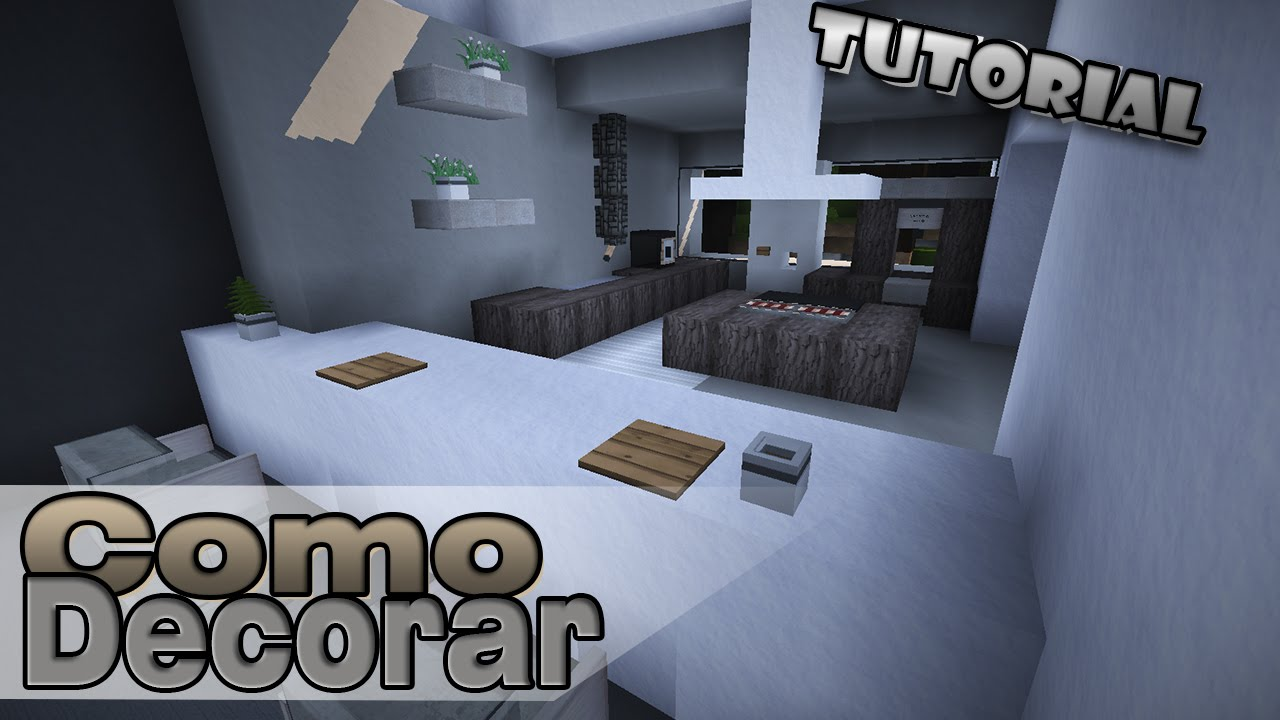 Minecraft como decorar una casa moderna cocina sala for Como decorar tu sala