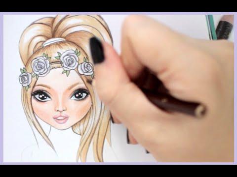 Topmodel Malbuch How To Draw Flowercrown Rose Malen Copics Foxy Draws