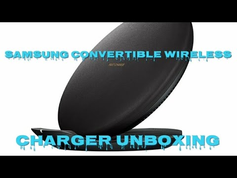 Samsung Wireless Convertible Charger Unboxing. Great for Note 8 & Iphone X
