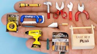 30 DIY BARBIE HACKS ~ MINIATURE ITEMS for ENGINEER, Mini Tools!