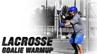 Lacrosse Goalie Blocking Warm Up | Lacrosse Goalie Drills