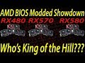 Live Episode #48 AMD RX580 RX570 RX480 BIOS Modded Showdown! Who's the king of the Hill!
