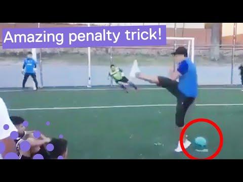 Man Scores Using Amazing Penalty Technique
