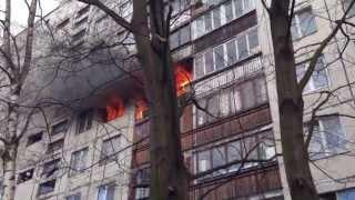 [HD] Страшнейший пожар в Купчино, Альпийский 15. Санкт-Петербург, 05-05-2013, Пасха