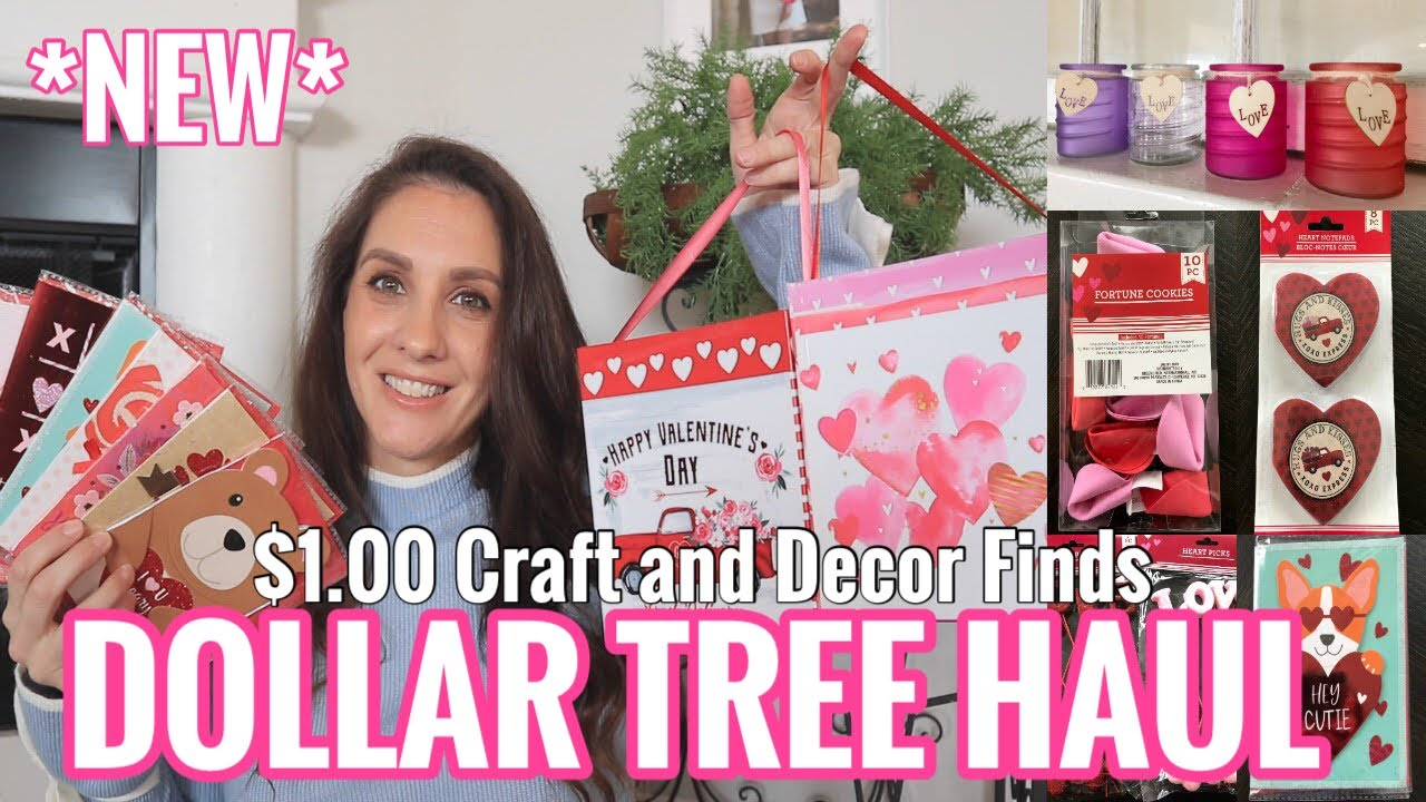 Dollar Tree Christmas Hours 2021 Dollar Tree Haul Brand New Valentine S Day Decor 2021 Youtube