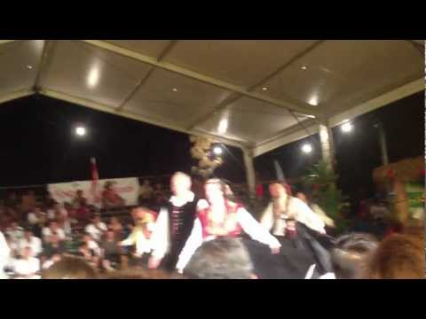 Slovenian music & dance group at the 3rd Intl Festival of Papeete, 2012