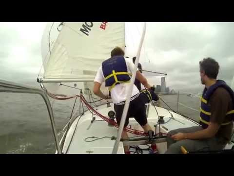 Racing in the New York Harbor with the Google Sailing Team