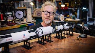 Adam Savage Reviews Bandai's 1/144 Saturn V Model Set!