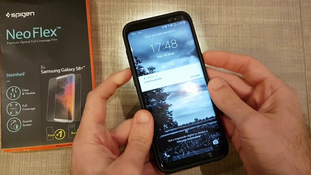 new product 316e9 7aab6 Película Spigen Neo Flex Galaxy S8 Plus - meu feedback.