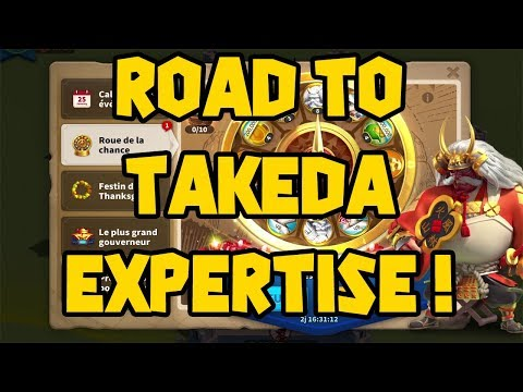 ROAD TO TAKEDA EXPERTISE - MAX WHEEL SPIN - RISE OF KINGDOMS (ENG SUB)