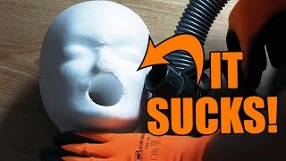 STYROFOAM HEAD vs. DRILL PRESS | How to make a blowjob machine