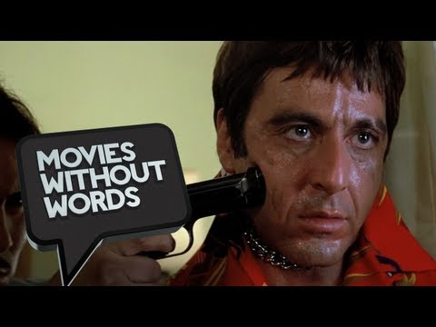 Scarface (2/8) Movies Without Words - Al Pacino Chainsaw Scene HD