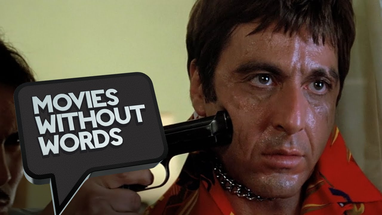 Scarface (2/8) Movies Without Words - Al Pacino Chainsaw ... Al Pacino Movies
