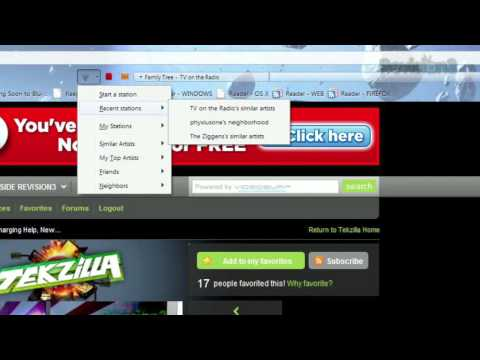 Stream Music From Your Firefox Toolbar - Tekzilla Daily Tip