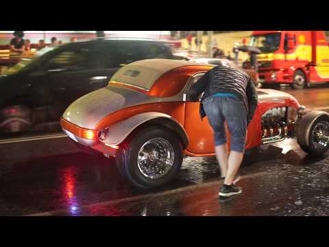 Sweden, Stockholm, classic cars @ Sveavägen - PRIDE Festival 2017