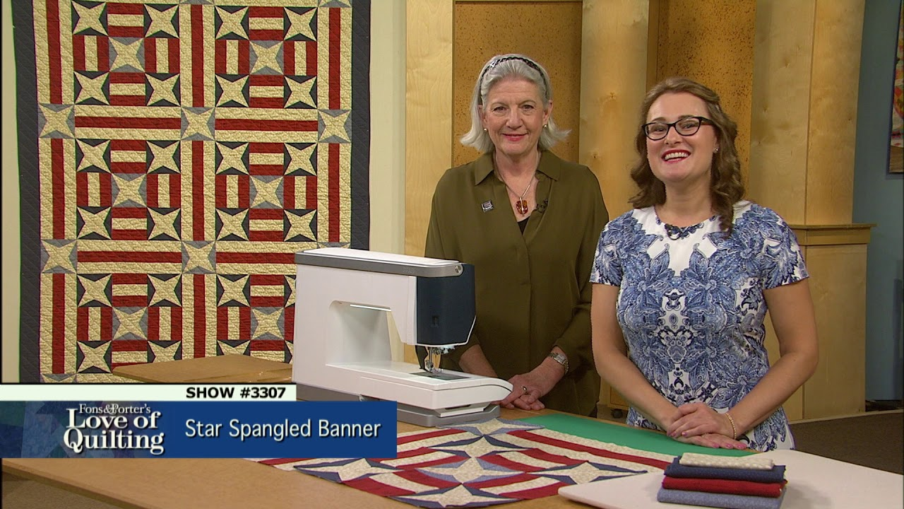 Love Of Quilting Preview Star Spangled Banner 3307 Youtube