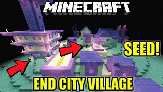 SEED RUMAH VILLAGER DI END CITY !! TOP SEED ! | Minecraft PE | (Pocket Edition) | Mcpe