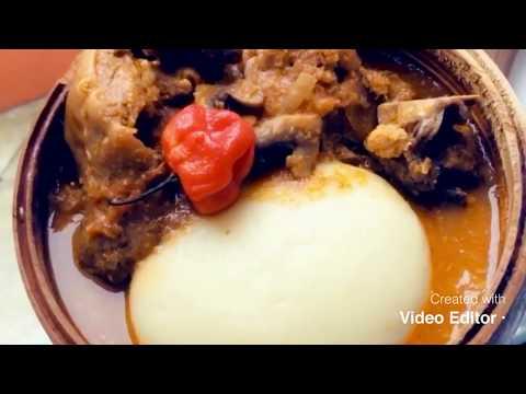 foutou-igname-sauce-gnangnan.-idée-de-plat-pour-la-pâques,-yam-fufu