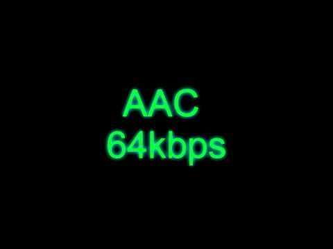 AAC vs MP3 @ 64kbps