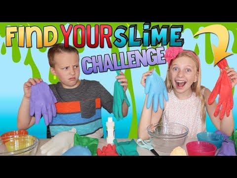 Find Your Slime Ingredients Challenge  Alyssa vs David